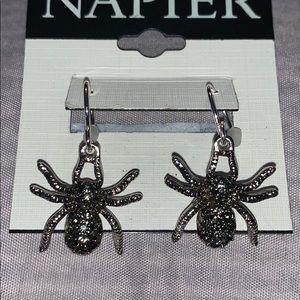 Napier spider earrings